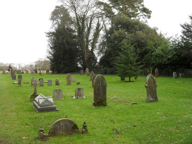 Gravestones in St. Nicholas churchyard, Hatherop