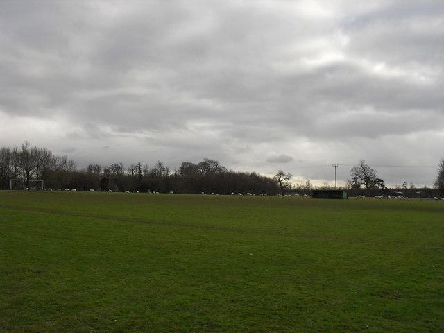 Football pitch at Hatherop