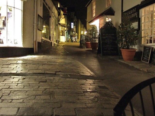 Lyme Regis: by night