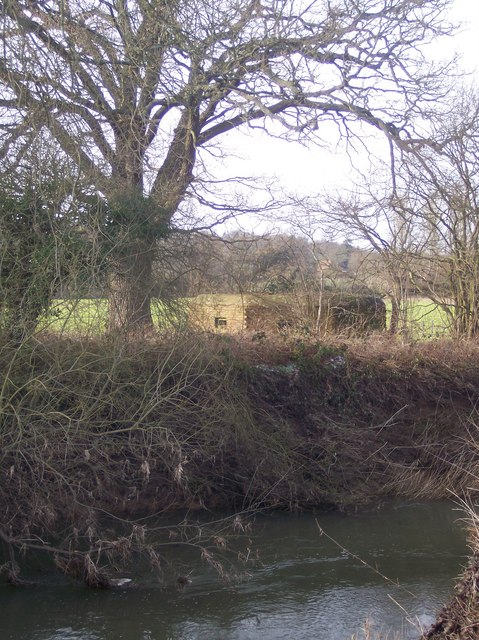 Pillbox overlooking the River Medway