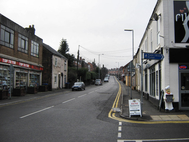 South end of Biddulph High Street