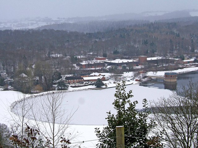 Trimpley Reservoir in the snow