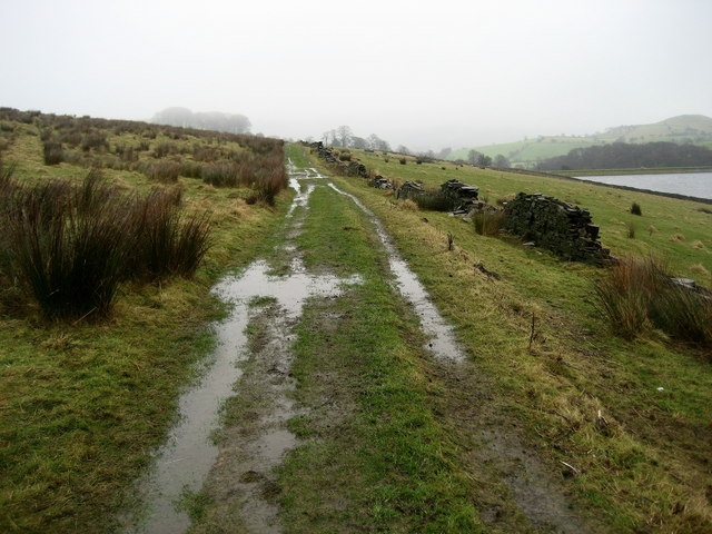 Track above Dean Clough Reservoir