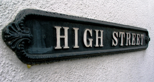 Cast-iron street sign in Malmesbury