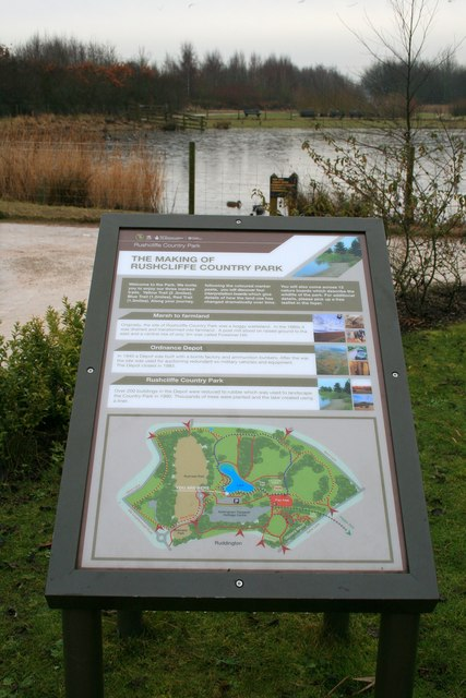 Information Board, Rushcliffe Country Park