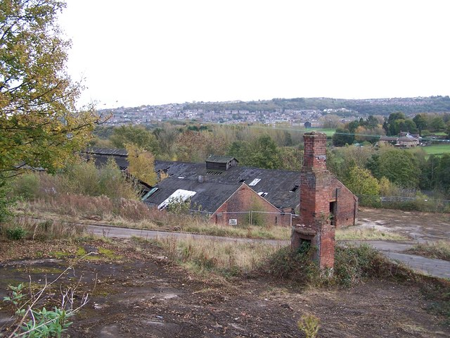 Former Kenyons Factory Ruins, from Loxley Road, Loxley, Sheffield - 1