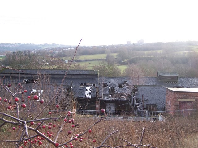 Former Kenyons Factory Ruins, from Loxley Road, Loxley, Sheffield - 2