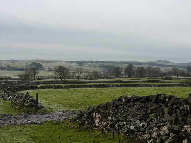 Fields and walls, in the land west of Chelmorton