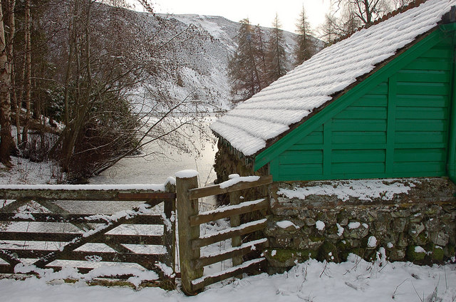 A winter's day at the boathouse, Loch Eddy