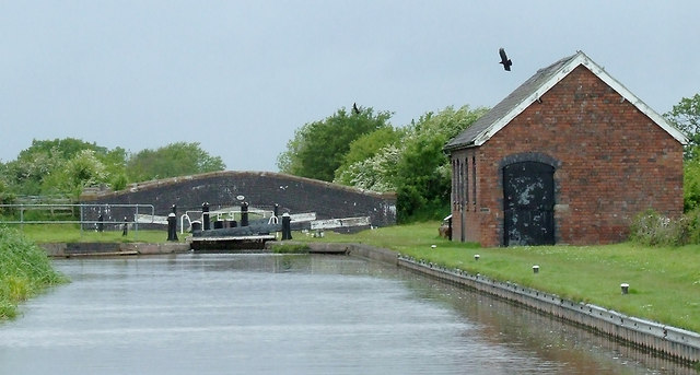 Approaching Hack Green Lock No 1, Cheshire
