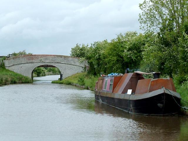 Shropshire Union Canal by Redripes Bridge near Nantwich