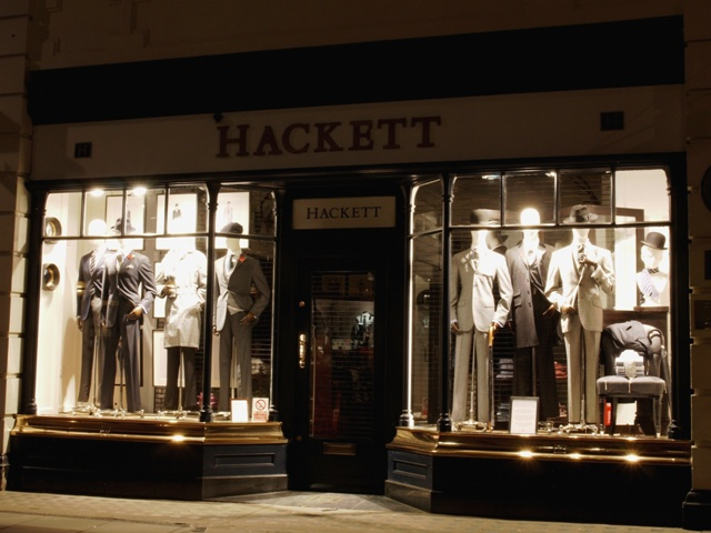 Hackett, gentlemen's outfitters in Jermyn Street