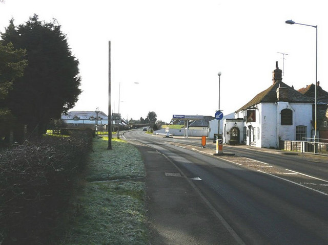 The crossroads at Kingsnorth