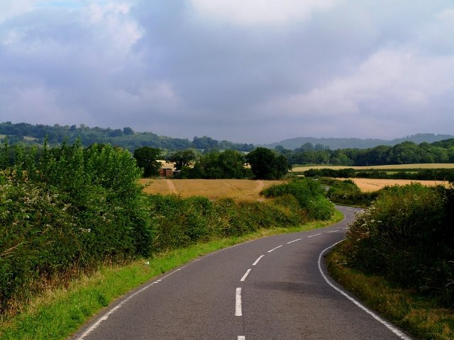 The road going north-east from Chathill