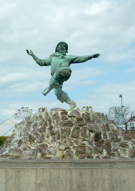 Jolly Fisherman statue