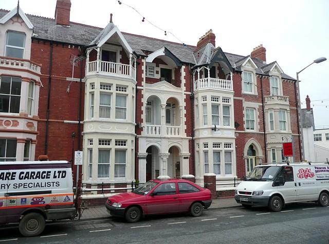 Houses in Priory Street, Cardigan