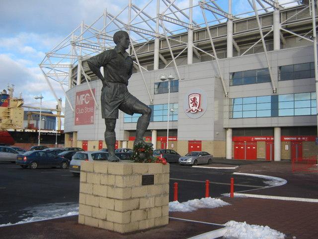 Statue of George Hardwick at Riverside Stadium Middlesbrough