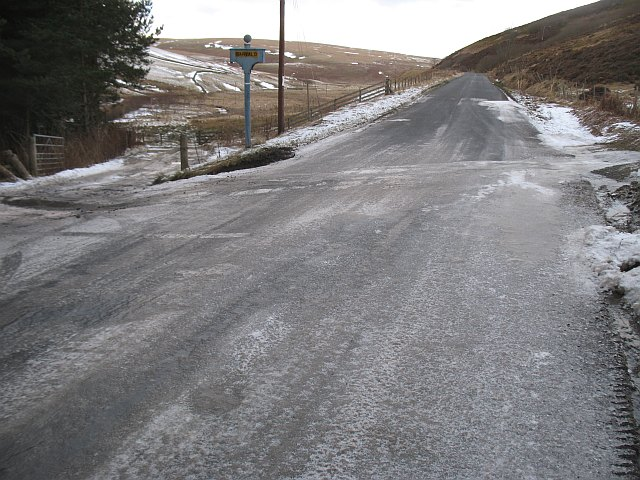 Iced up road, Garvald