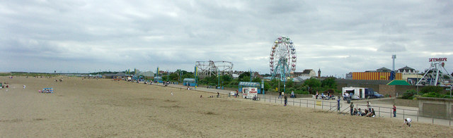 Skegness beach panorama