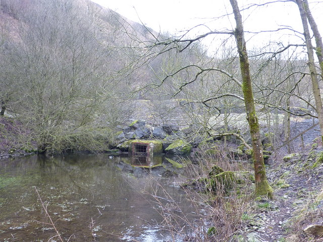 Stream goes into a culvert