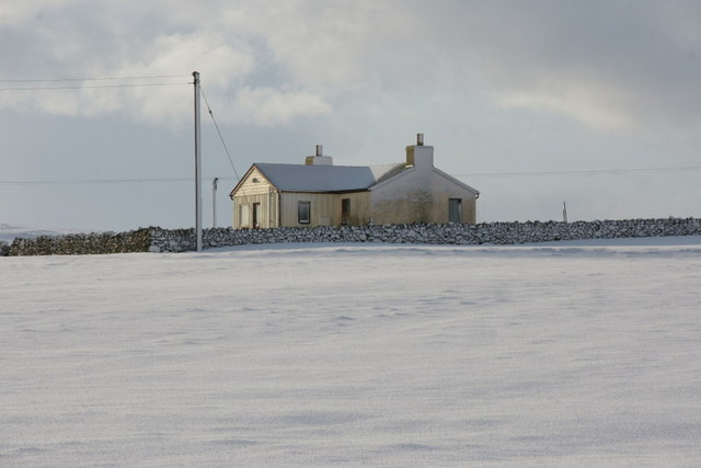 Fullersquay, Baltasound, in the snow