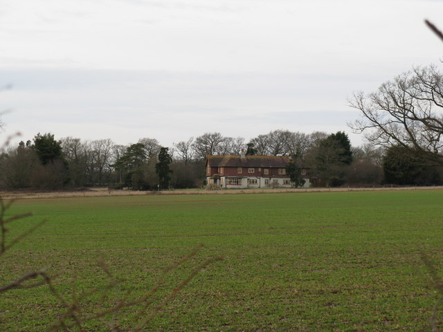 Coolham House from the bridleway off the A 272