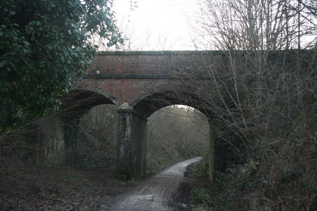 Double Arched bridge over the Forest Way