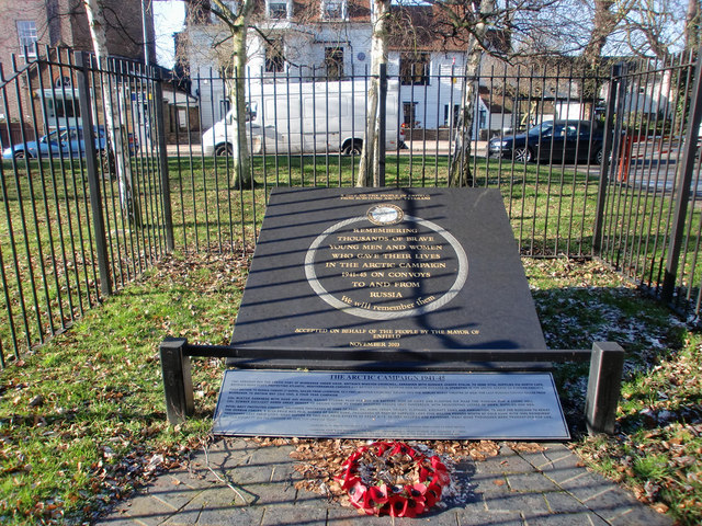 War Memorial to the Arctic Campaign, Silver Street, Enfield