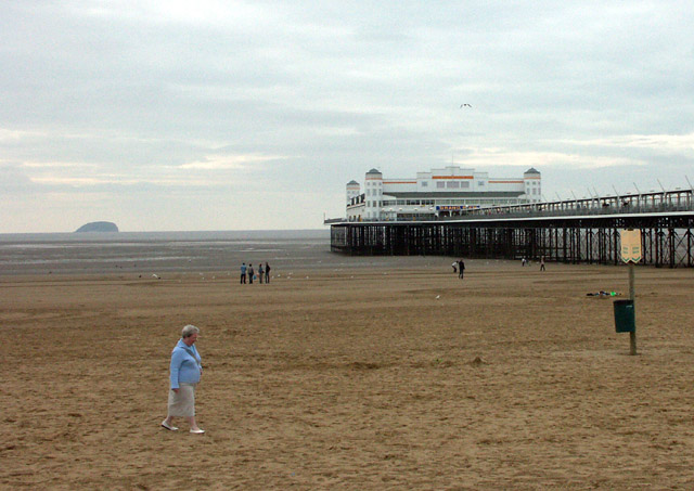 Pier and Steep Holm, Weston-super-Mare