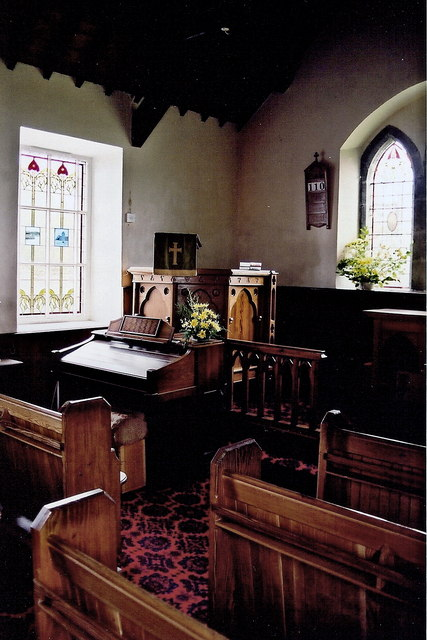 Cregneash Village - St. Peter's Church interior