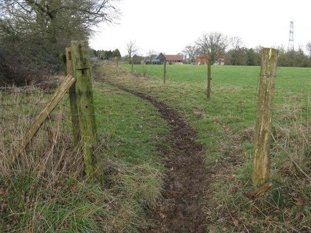 Bridleway near Emmetts Farmhouse