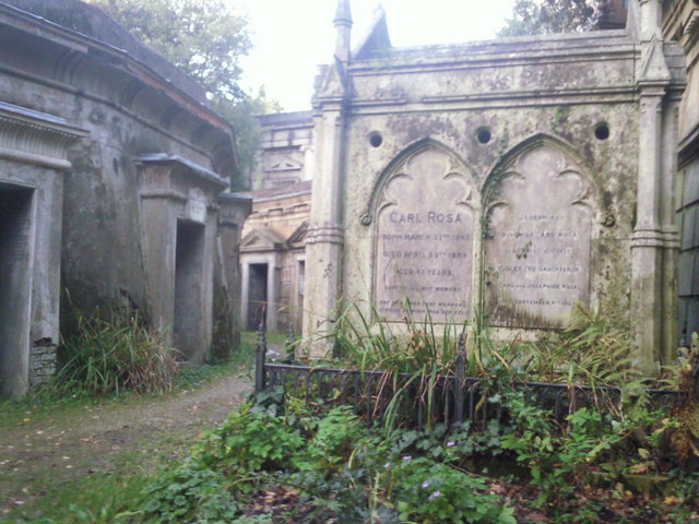 The tomb of Carl Rosa, Highgate West Cemetery