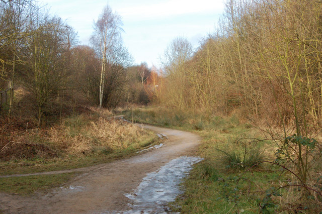 Trackbed of ex-Great Central Railway north of Hillmorton Road