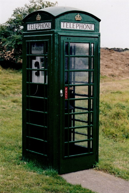 Cregneash Village - Green telephone booth
