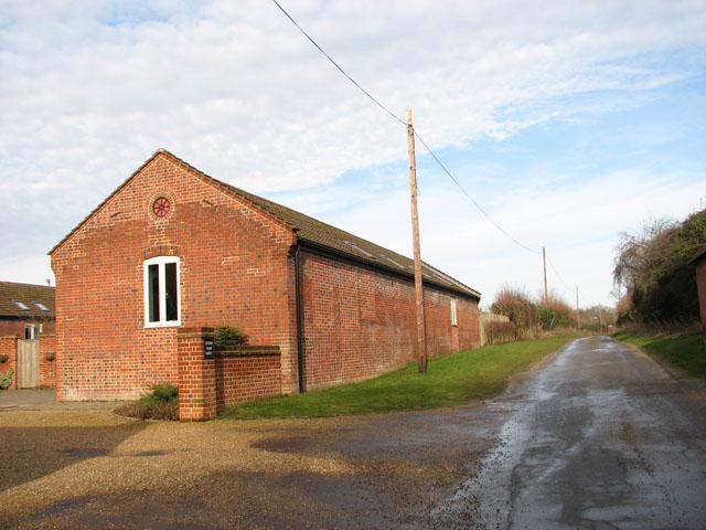 Rectory Lane past Church Farm Barns