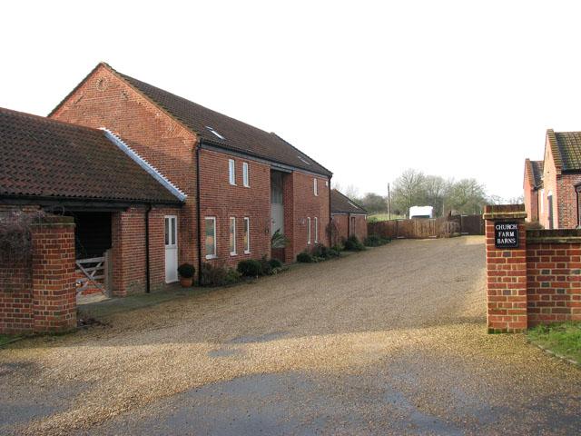 Entrance to Church Farm Barns