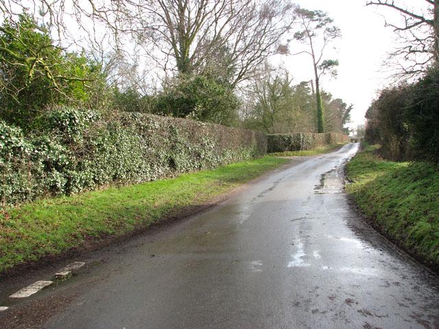 Great Melton Road past The Grange