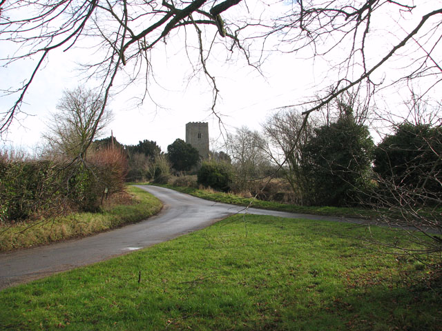 All Saints church viewed from Rectory Lane/Mill Road junction