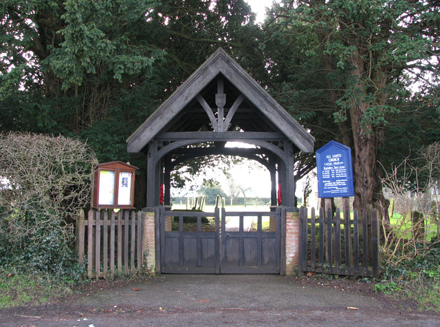 Lych gate at All Saints church