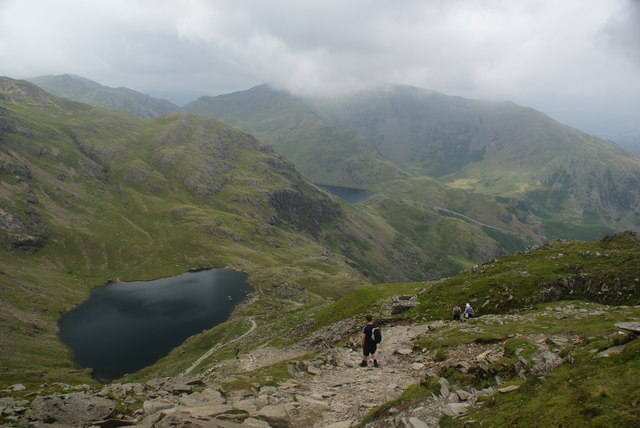 Descending from the Old Man of Coniston
