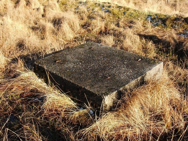 Concrete block at Starfish decoy site