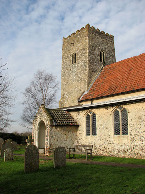 All Saints church - tower and porch