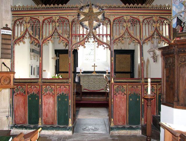 All Saints church - C15 rood screen