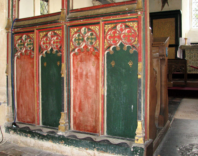 All Saints church - C15 rood screen panels