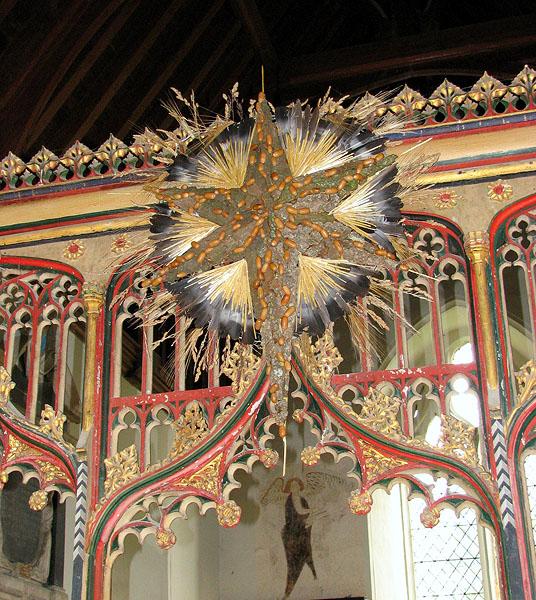 All Saints church - C15 rood screen (detail)