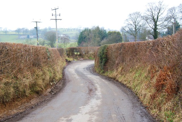 The lane to Four Crosses