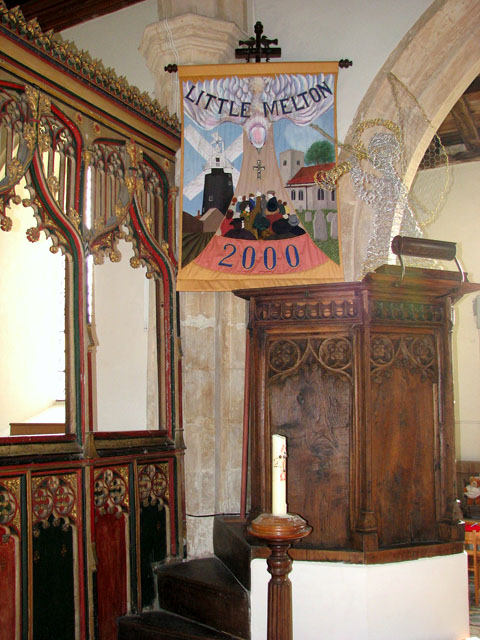 All Saints church - pulpit made from C15 panels