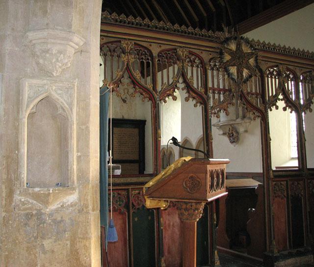 All Saints church - north aisle image niche
