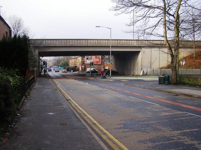 M66 bridge over Rochdale Old Road