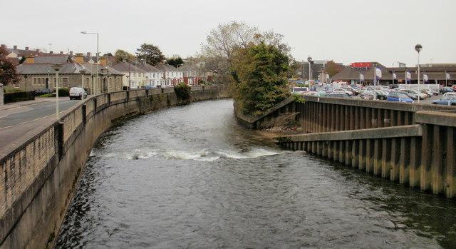 A bend in the river, Bridgend
